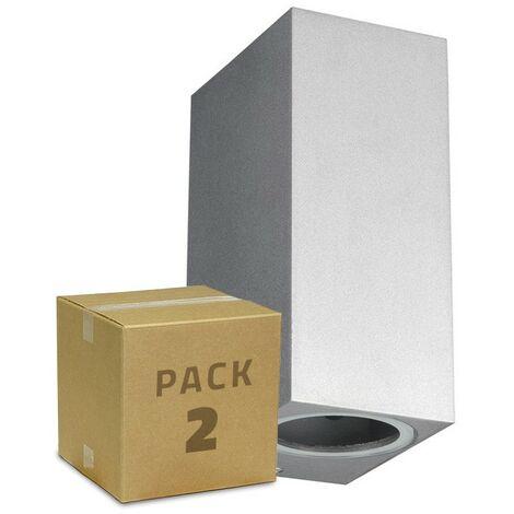 Pack Aplique Miseno Plata Iluminación Doble Cara (2 un) Plata