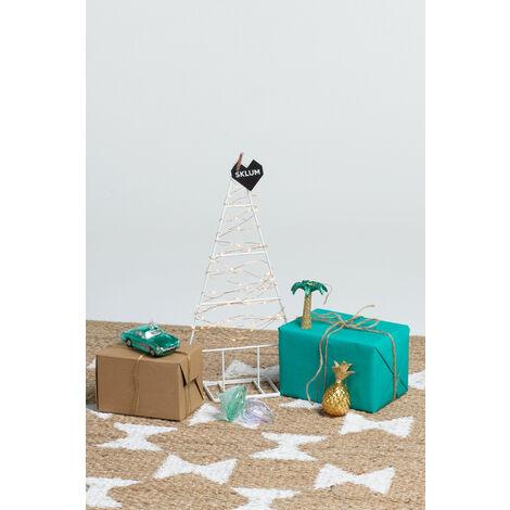 SKLUM PACK Árbol de Navidad Thri y Adornos Acero - Cristal Blanco