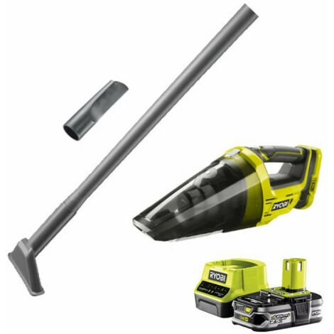 Pack aspirateur a main RYOBI 18V One Plus R18HVF-0 - 1 batterie 2.5Ah LithiumPlus - chargeur rapide RC18120-125