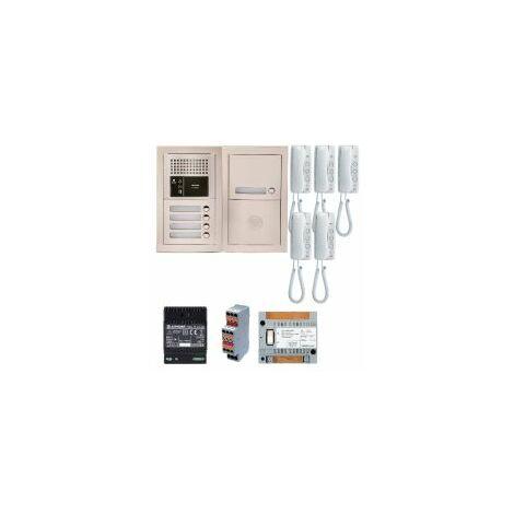 Pack audio GTBA5E avec 5 boutons et 5 postes GT1D préprogrammés, plat ine, de rue encastrée - AIPHONE '' - GTBA5E.