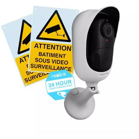 Pack avantage caméra Reolink Argus 2 + panneaux - 100% sans-fil autonome IP / WIFI - IP65 / 1080P FHD / APP