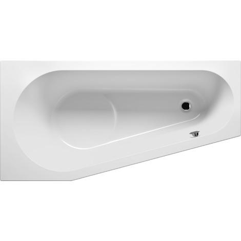 Pack Baignoire d'angle droite acrylique RIHO DELTA 160x80 cm + pieds INCLUS