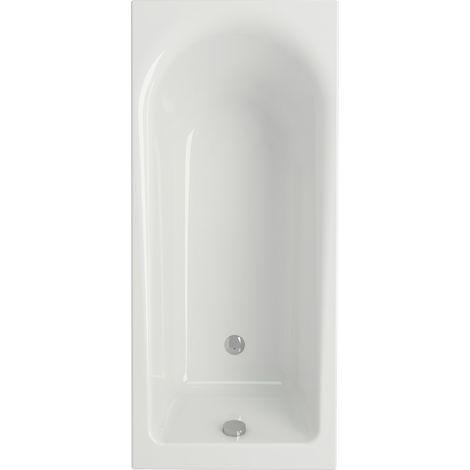 La bañera rectangular u ovalada
