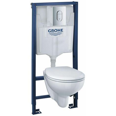 Pack bâti WC Grohe + Cuvette Rimless BAU Ceramic