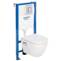 Pack Bati WC Grohe Solido Perfect Compact+Manchon O100/90