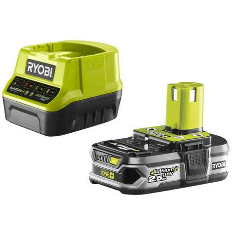 Pack batterie RYOBI 18V OnePlus 2.5Ah LithiumPlus et chargeur rapide 2.0Ah RC18120-125