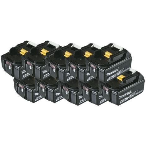 Pack batteries 18V 5Ah Makita avec témoin de charge BL1850B - plusieurs modèles disponibles
