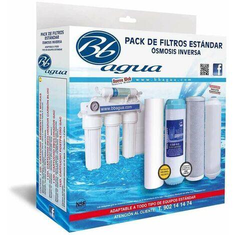 Pack Bbagua 4 Filtros para equipo de osmosis inversa
