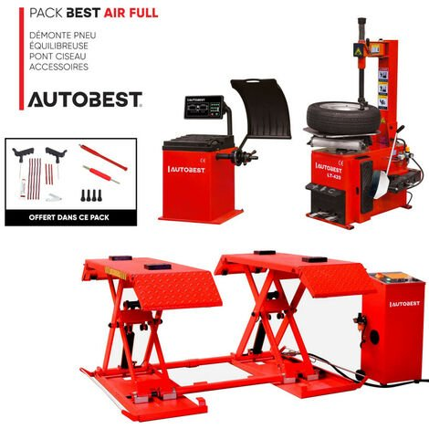 Pack BEST AIR FULL démonte pneu, equilibreuse, pont ciseau et accessoires