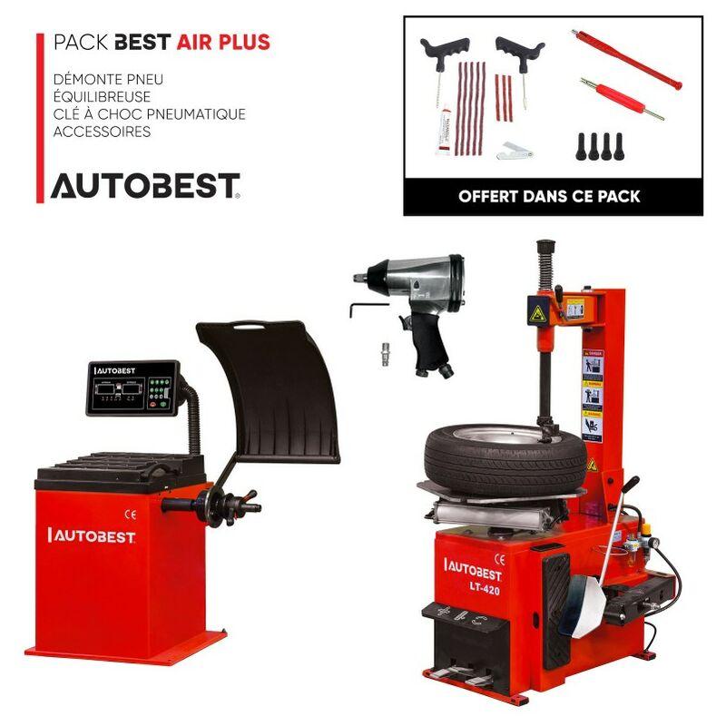 Pack BEST AIR PLUS démonte pneu, equilibreuse, clé à choc et accessoires