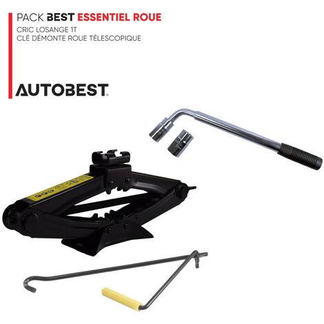 Pack BEST ESSENTIEL ROUE Cric losange 1t et clé démonte roue télescopique