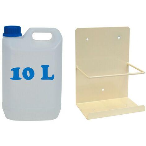 """main image of """"Pack bidón garrafa de plástico para condensados diez litros + Soporte pared"""""""