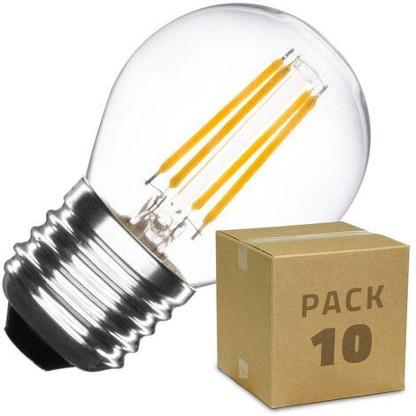 Pack Bombilla LED E27 Regulable Filamento Small Classic G45 4W (10 un)