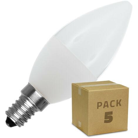 Pack Bombillas LED E14 C37 5W (5 un)