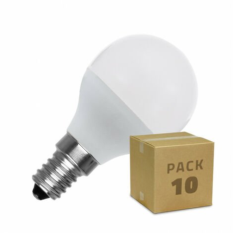 Pack Bombillas LED E14 G45 5W (10 un)