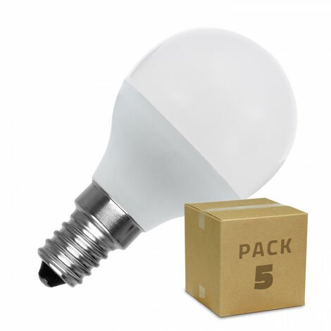 Pack Bombillas LED E14 G45 5W (5 un)