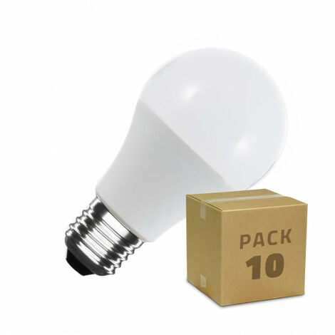Pack Bombillas LED E27 A60 12W (10 un)