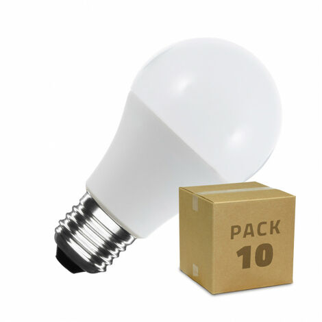 Pack Bombillas LED E27 A60 7W (10 un)