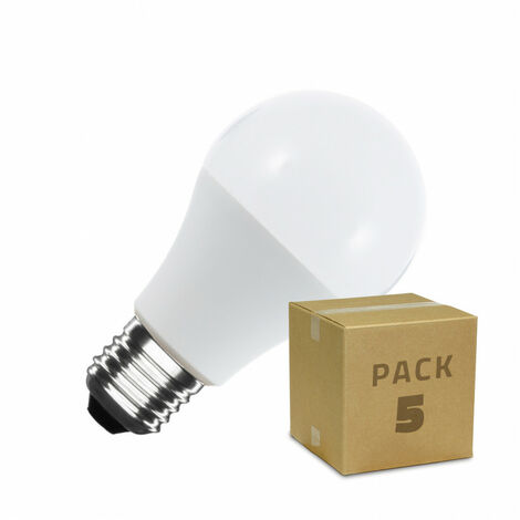 Pack Bombillas LED E27 A60 7W (5 un)