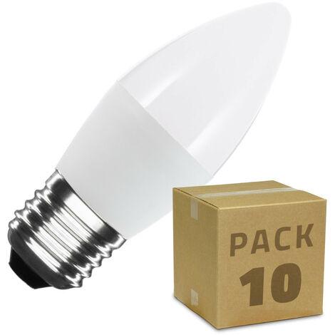 Pack Bombillas LED E27 C37 5W (10 un)