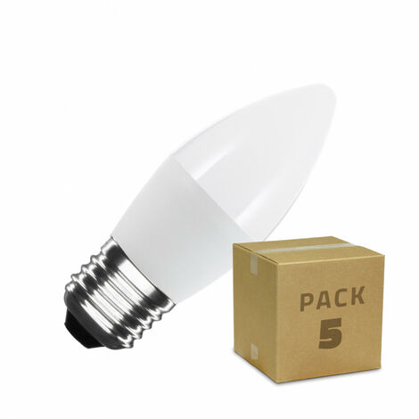 Pack Bombillas LED E27 C37 5W (5 un)