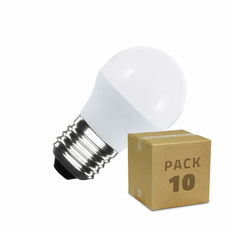 Pack Bombillas LED E27 G45 5W (10 un)