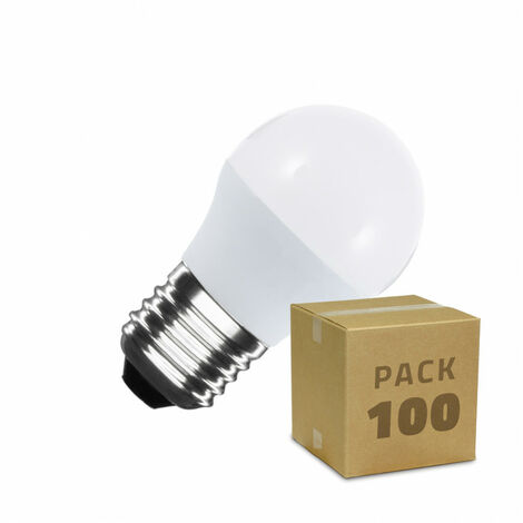 Pack Bombillas LED E27 G45 5W (100 un)