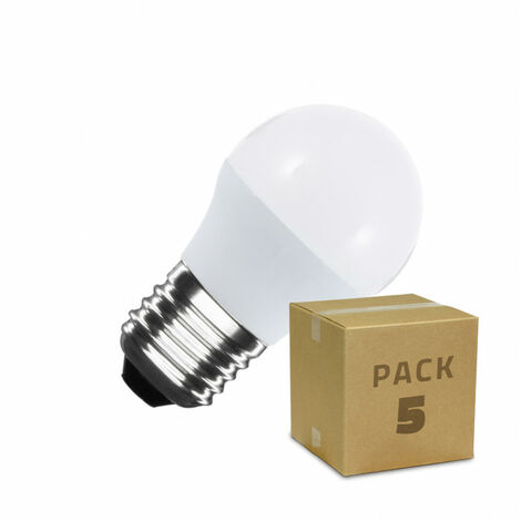 Pack Bombillas LED E27 G45 5W (5 un)