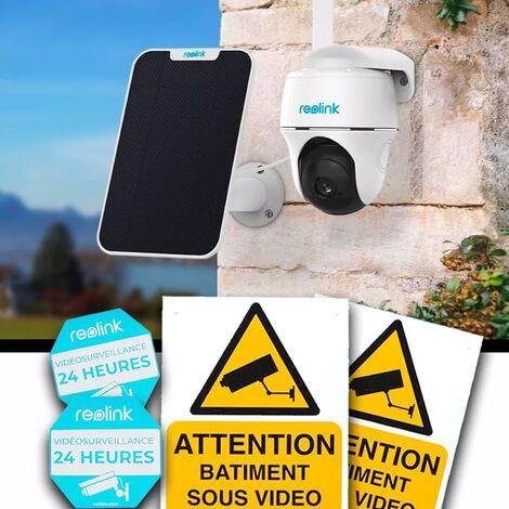 Pack caméra 4G Reolink GO PT rotative 100% autonome sans fil version FR panneau solaire / IP64 / Détecte, film, notifie