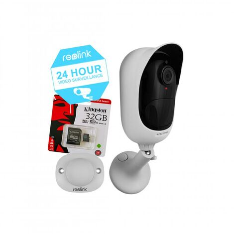 Pack caméra Reolink Argus 2 + carte-SD - 100% sans-fil autonome IP WIFI / Plage horaire / IP65 / 1080P FHD / APP