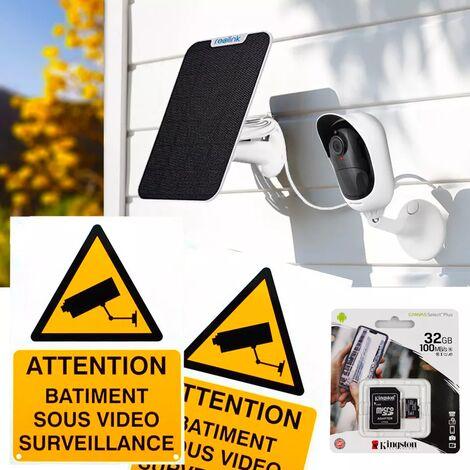 Pack caméra Reolink Argus 2 + panneau solaire + accessoires - autonome IP WIFI / 2 supports / IP65 / 1080P FHD / APP