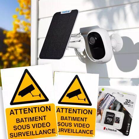 Pack caméra Reolink Argus 2E + panneau solaire + accessoires - autonome IP WIFI / 2 supports / IP65 / 1080P FHD / APP