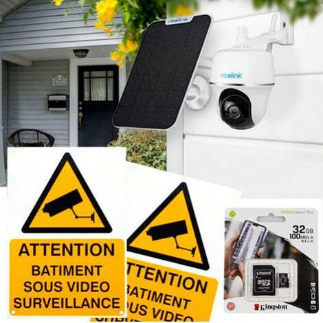 Pack caméra Reolink Argus PT + panneau solaire + accessoires - autonome IP WIFI / motorisée / IP64 / 1080P FHD / APP