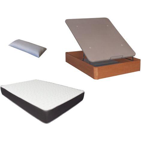 Pack Canape Madera 30mm+colchon HR MEGA CONFORT VISCO+ almohada DE REGALO 150X200
