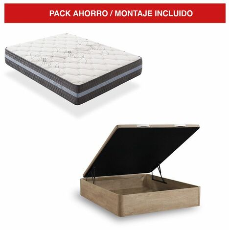 Pack Canapé Madera Cambrian + Colchón Visco 30cm Grand Luxury 105x200 cm