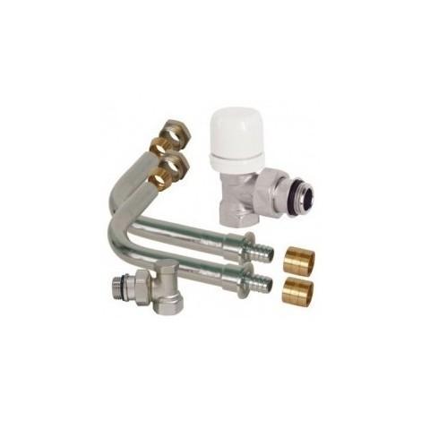 Pack cannes de radiateur thermostatisable a glissement p.e.r ø12 dim. 15/21
