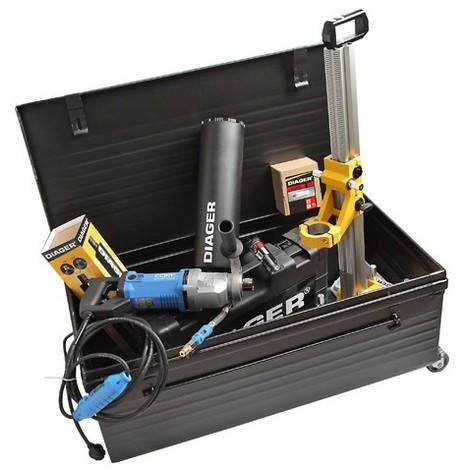 Pack carrotage électrique 2000 W raccord 1/2 ( Bâti + Moteur + Coffret outillage) - 356E - Diager