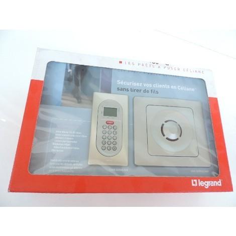 Pack centrale d'alarme intrusion radio multiservice complet avec plaque titane Prêt à poser CELIANE LEGRAND 043209