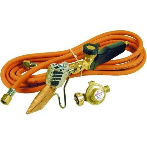 Pack chalumeau couvreur avec panne 45mm + manche + tuyau + détendeur