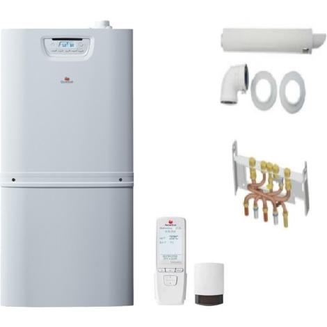 PACK CHAUDIERE gaz sol condensation avec ballon sanitaire intégré DUO MAX 30 kw ballon 90l COMPLETE