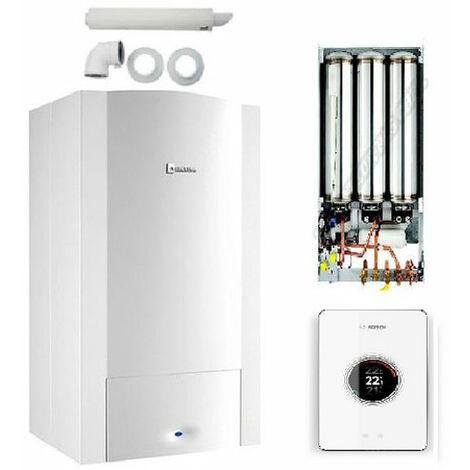 Pack Chaudière ODEALIS CONDENS 24-2M + Dosseret GVT C 24-H + Thermostat EasyControl CT 200 + ventouse COMPLETE