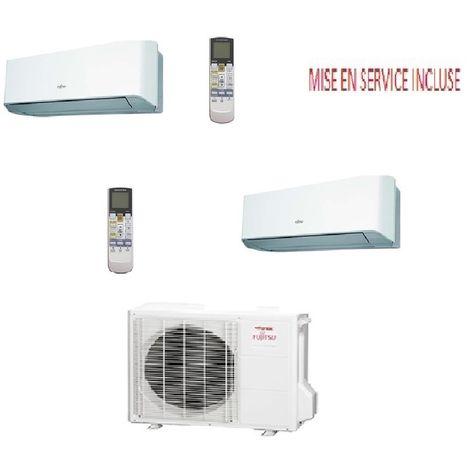 Pack climatisation BI SPLIT atlantic inverter AOYG 18 LAC2 pour 1 pièce de 20 m2 et 1 de 35m2 max MISE EN SERVICE INCLUSE