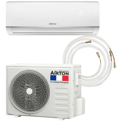 Pack Climatiseur réversible AIRTON - A Poser Soi-meme - 2500W - Readyclim 6M - 4097306M3/8