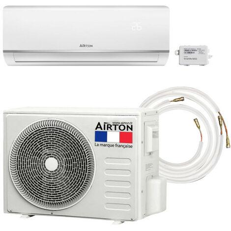 Pack Climatiseur réversible AIRTON - A Poser Soi-meme - 2500W - Readyclim 6M - WIFI - 4097306MW3/8