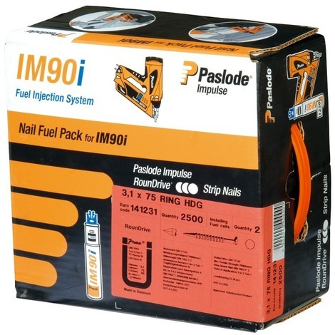 Pack clous crantés pour cloueur à gaz IM90i Spit
