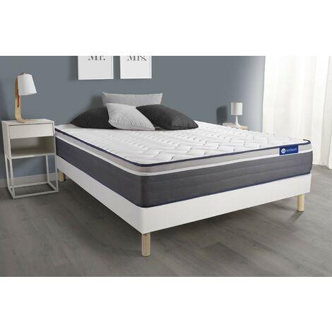 Pack colchón Actiflex plus 135x200cm + Somier multiláminas, Muelles ensacados y espuma viscoelástica