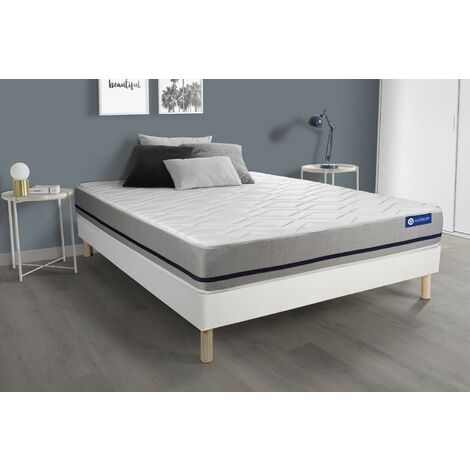 Pack colchón Actiflex soft 135x200cm + Somier multiláminas, Muelles ensacados, 3 zonas de confort