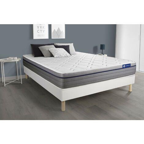 Pack colchón Actiflex zen 180x200cm + Somier multiláminas, Muelles ensacados y espuma viscoelástica, 3 zonas de confort