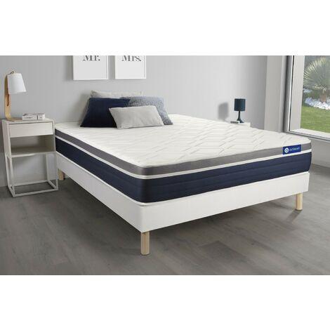 Pack colchón Actilatex confort 180x200cm + Somier multiláminas, Látex y espuma viscoelástica, 7 zonas de confort
