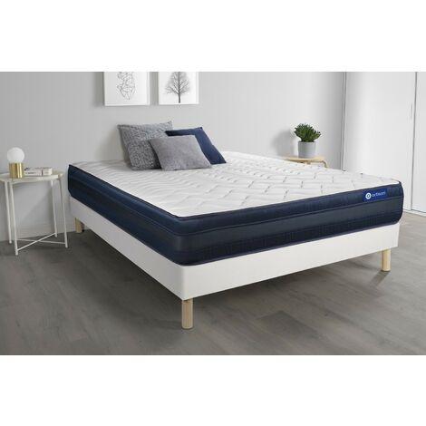 Pack colchón Actilatex tech 135x190cm + Somier multiláminas, Látex y espuma viscoelástica, 5 zonas de confort